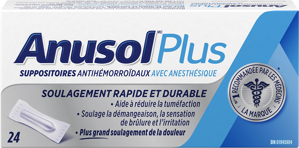 Suppositoires ANUSOL Plus