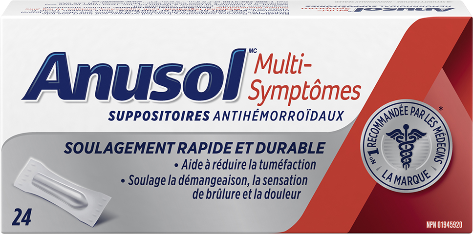Suppositoires ANUSOL Multi-symptômes